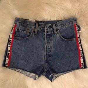 Levi high waisted denim shorts